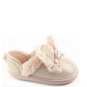 New 5-6 Bunny Ears Toddler Girls Pink Slippers